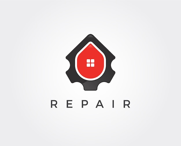 Minimalny szablon logo naprawy domu