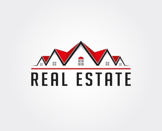 Minimalny szablon logo nieruchomości