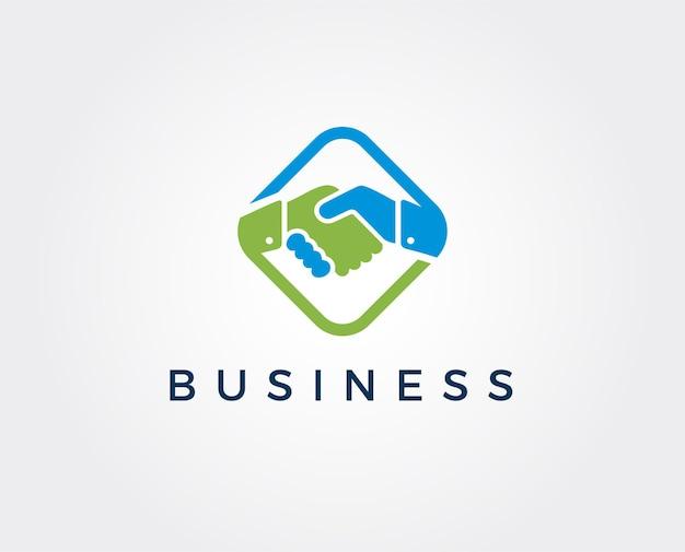Minimalny szablon logo potrząsania ręką