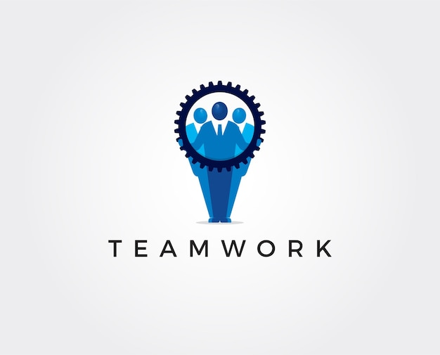 Minimalny szablon logo pracy zespołowej