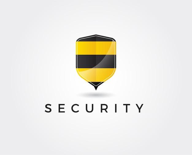 Minimalny szablon logo pszczół