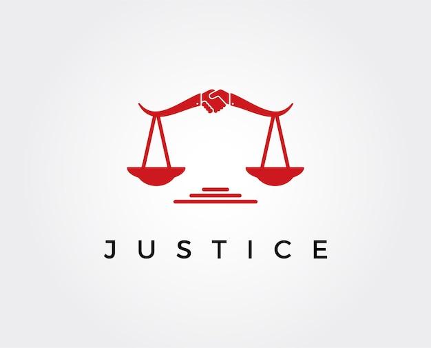 Minimalny szablon logo sprawiedliwości