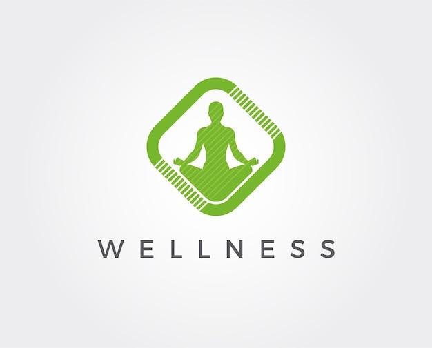 Minimalny szablon logo wellness