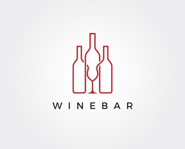 Minimalny szablon logo wina wine