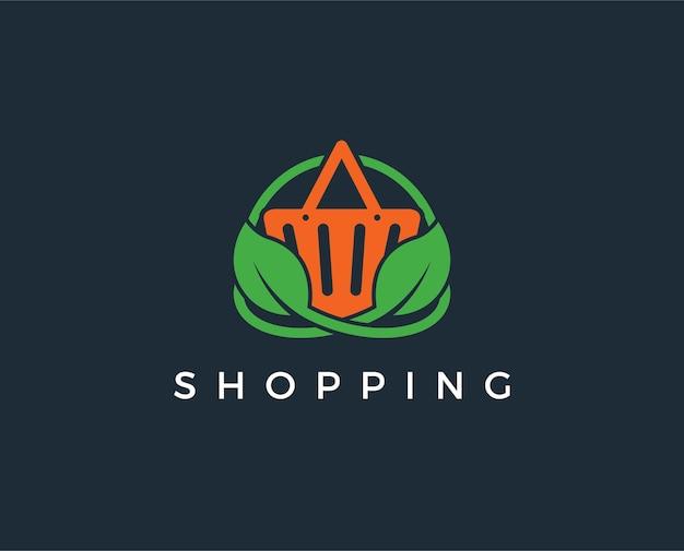 Minimalny szablon logo zakupów