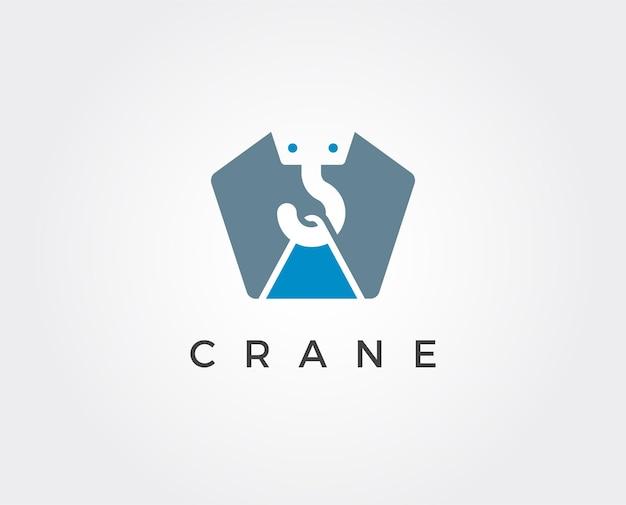 Minimalny szablon logo żurawia