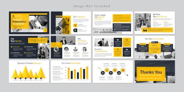 Minimalny szablon prezentacji prezentacji biznesowych premium wektorów.