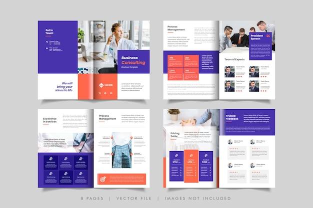 Minimalny szablon projektu broszury biznesowej lub broszury