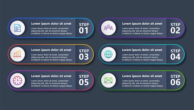 Minimalny szablon projektu infografiki biznesowej