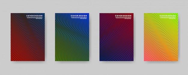 Minimalny szablon projektu okładki z gradientową i abstrakcyjną teksturą drewna