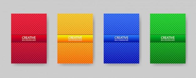 Minimalny szablon projektu okładki zestaw z gradientu i streszczenie koła tekstury