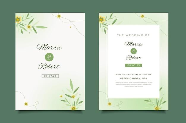 Minimalny szablon zaproszenia na ślub