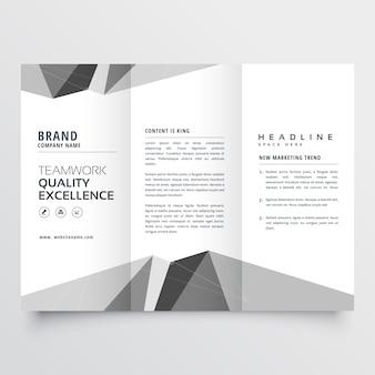 Minimalny, szary, trójwarstwowy szablon do broszury