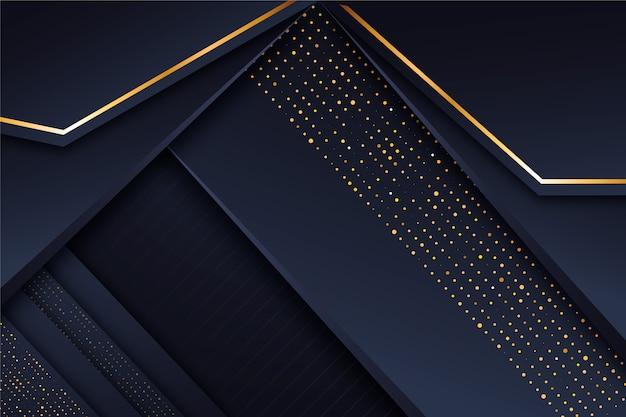 Minimalny wygaszacz ekranu ze złotymi detalami