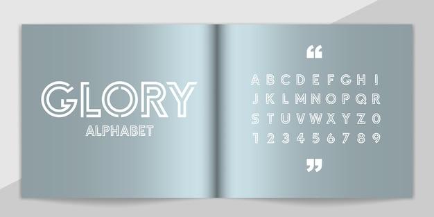 Minimalny zestaw czcionek i alfabetu.