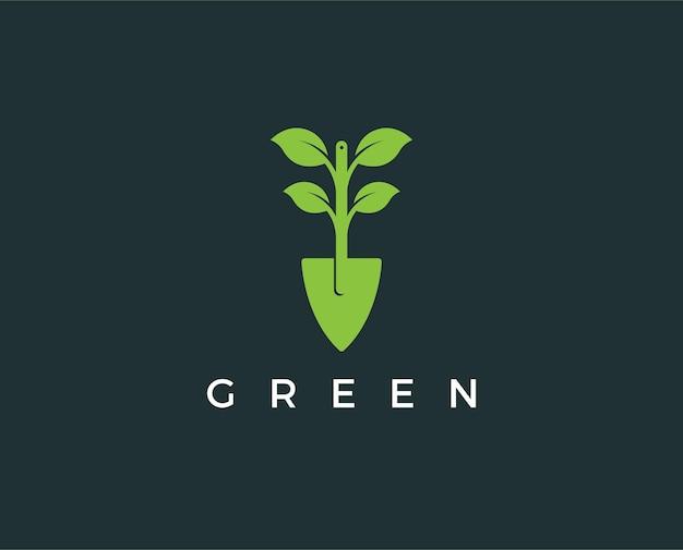 Minimalny zielony szablon logo logo