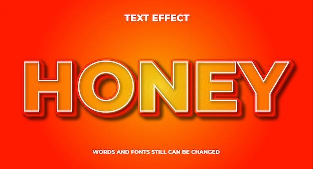 Miód edytowalny efekt tekstowy