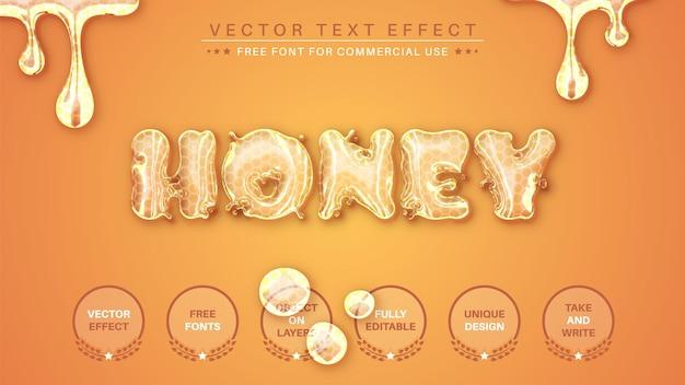 Miód edytuj edytowalny styl czcionki z efektem tekstowym