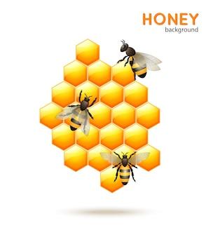 Miód pszczeli tle