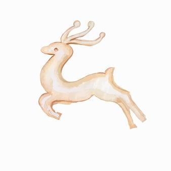 Miska bożonarodzeniowa zabawki choinkowe nowy rok święta ręcznie rysowane akwarela ilustracja