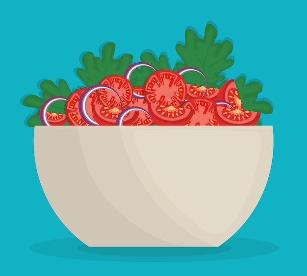 Miska z warzywami sałatka ikona