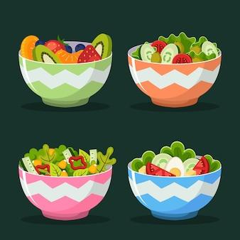Miski na owoce i sałatki