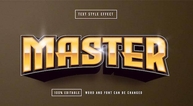 Mistrz żółty efekt stylu tekstu