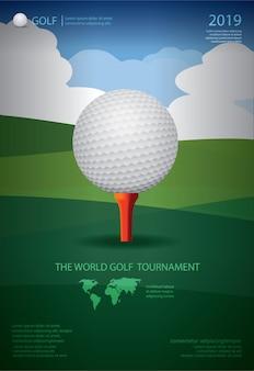 Mistrzostwa w golfa plakatu