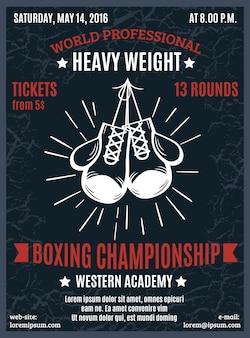 Mistrzowski plakat boksu zawodowego