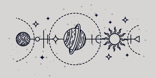 Mistyczna ilustracja astrologiczna