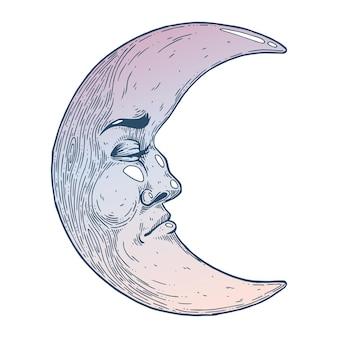 Mistyczny księżyc z twarzy
