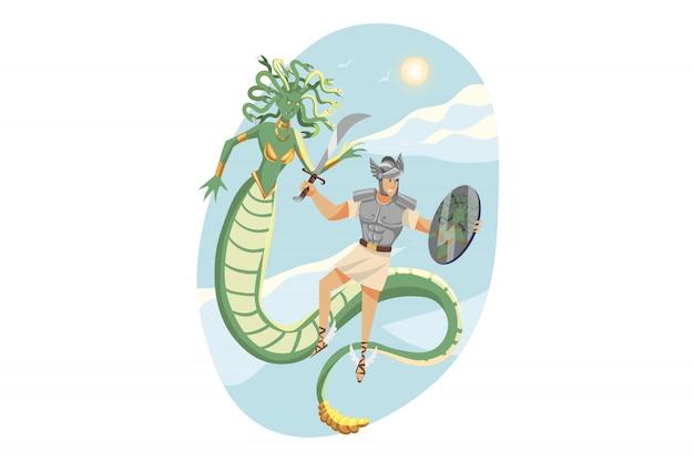 Mitologia, grecja, olimp, legenda, koncepcja religii.