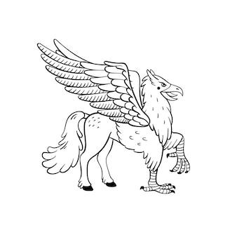 Mitologiczny hipogryf zwierzęcy