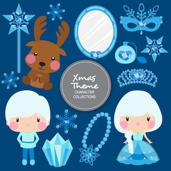 Mizu świąteczne postacie zimowe