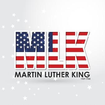 Mlk martin luther king gwiazda tła tekstu