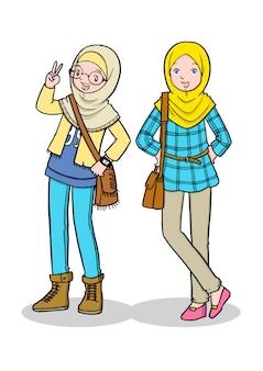 Młoda azjatykcia muzułmańska dziewczyna