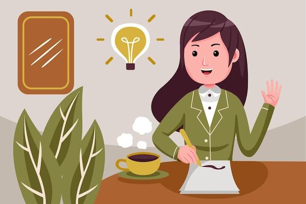 Młoda bizneswoman ma genialny pomysł.