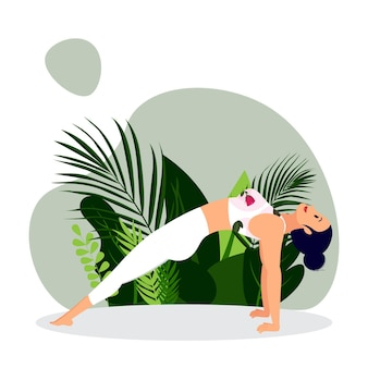 Młoda dama ćwicząca jogę