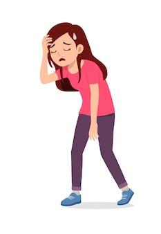 Młoda, dobrze wyglądająca kobieta czuje się zmęczona i chora