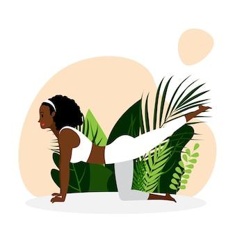 Młoda dziewczyna ćwiczy jogę