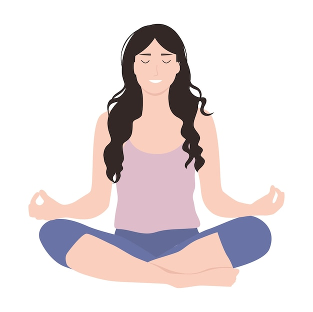 Młoda dziewczyna medytuje