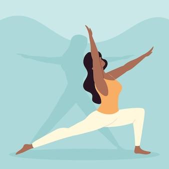 Młoda kobieta praktykuje styl życia jogi