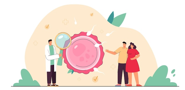 Młoda para małżeńska konsultująca się z lekarzem