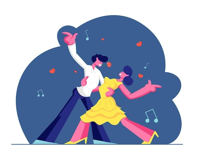 Młoda para sparetime z tańcem tango