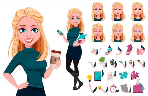 Młoda piękna biznesowa kobieta