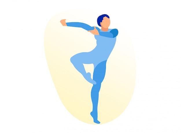 Młoda, przystojna, sportowa i wysportowana tancerka baletowa