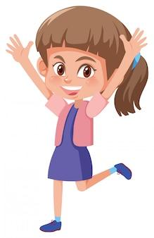 Młoda szczęśliwa brunetki dziewczyna