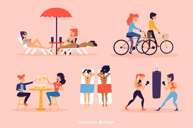 Młode kobiety spędzają razem czas
