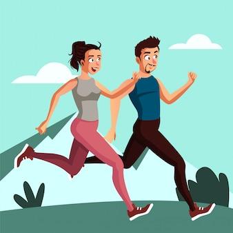 Młode pary lubią biegać rano, zanim pójdą do pracy