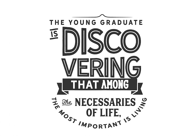 Młody absolwent odkrywa